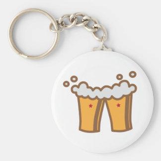 Topetón de la cerveza llavero redondo tipo pin