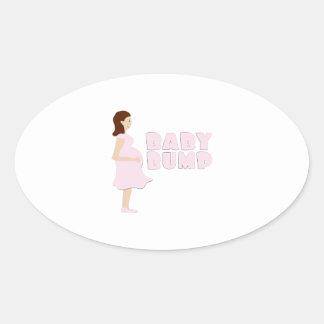 Topetón del bebé colcomanias ovaladas personalizadas