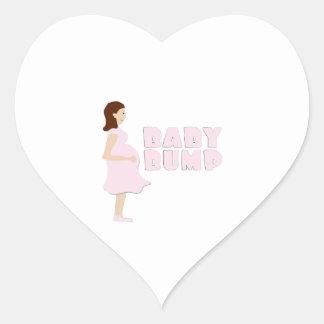 Topetón del bebé pegatina de corazon personalizadas
