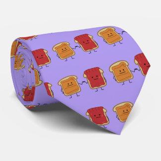 Topetón del puño de la mantequilla y de la jalea corbatas