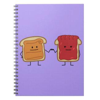 Topetón del puño de la mantequilla y de la jalea cuaderno