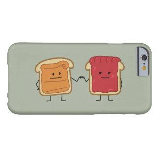 Topetón del puño de la mantequilla y de la jalea funda de iPhone 6 barely there