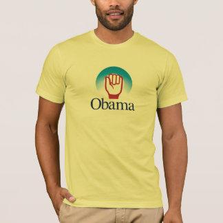 Topetón del puño de Obama Playera