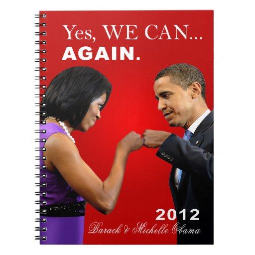 Topetón del puño de Obama - podemos sí, otra vez Libreta Espiral