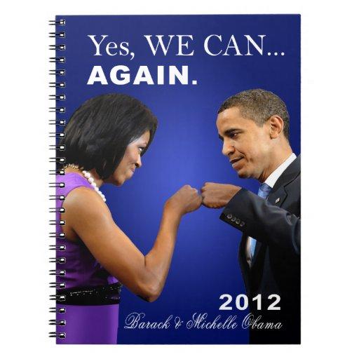 Topetón del puño de Obama - podemos sí, otra vez Libretas Espirales