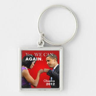 Topetón del puño de Obama - podemos sí otra vez Llavero Personalizado