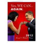 Topetón del puño de Obama - podemos sí, otra vez Felicitacion