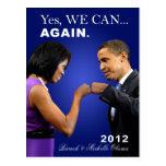 Topetón del puño de Obama - podemos sí, otra vez Postal