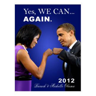 Topetón del puño de Obama - podemos sí, otra vez Tarjetas Postales