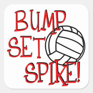 ¡Topetón sistema punto Voleibol Pegatinas Cuadradases Personalizadas