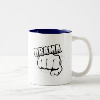 Topetón Vintage.png del puño de Obama Taza De Café