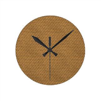 Topetones coriáceos reloj redondo mediano