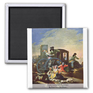 Töpferwarenhändlerinnen de Francisco De Goya Imán Cuadrado