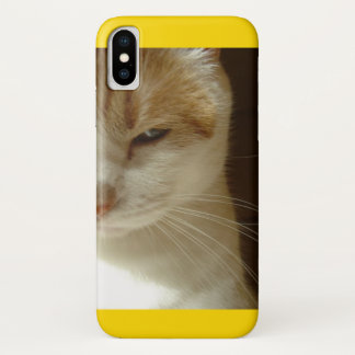 Topgun Cat iPhone X Case
