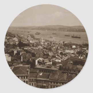 Tophane and Uskudar Constantinople Turkey 1880s Classic Round Sticker