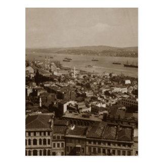 Tophane and Uskudar Constantinople Turkey 1880s Postcard