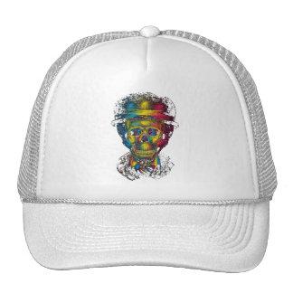 tophat abstracto 3d de los vidrios de los cráneos gorras