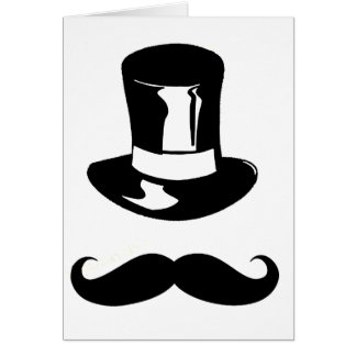 Tophat and Moustache Card