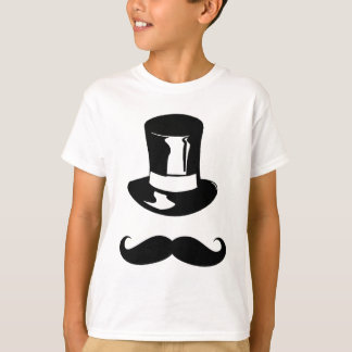 Tophat and Moustache T-Shirt