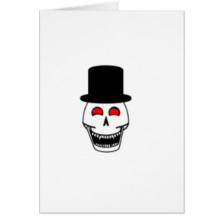 Tophat Skull Greeting Card