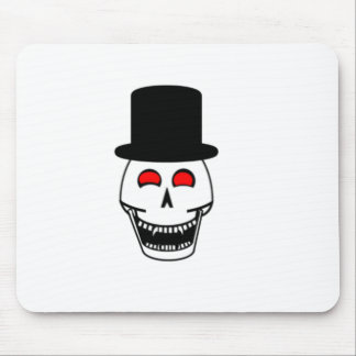 Tophat Skull Mouse Pad