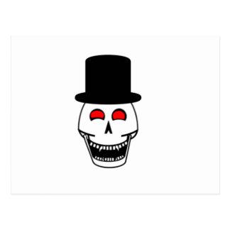 Tophat Skull Postcard
