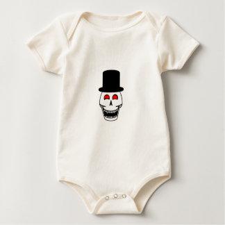 Tophat Skull Baby Bodysuits