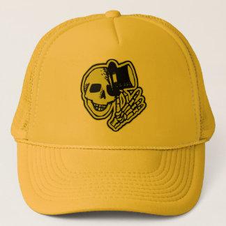 Tophat Skull Yellow Trucker Hat