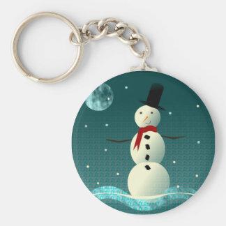 Tophat Snowman 2 Keychain