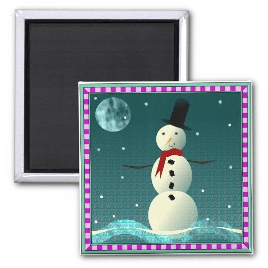 Tophat Snowman Magnet