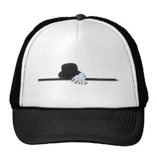 TopHatBlackCaneWhiteGloves073011 Trucker Hat