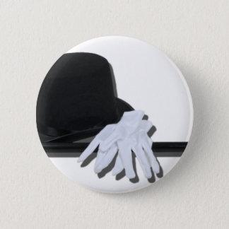 TopHatBlackCaneWhiteGloves073011 Pinback Button