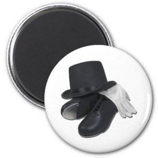 TopHatTapShoesGloves012511 Imán Redondo 5 Cm