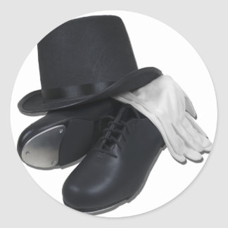 TopHatTapShoesGloves012511 Pegatinas
