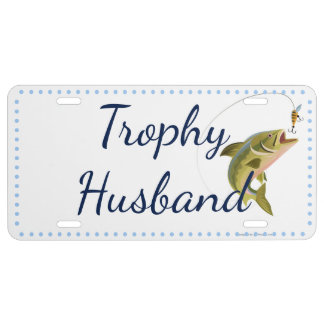 Tophy Husband Fishing License Plate