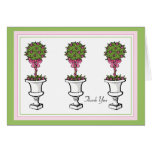 Topiaries Thank You Notes Stationery Note Card