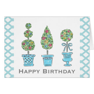 Topiary Birthday Greeting Card