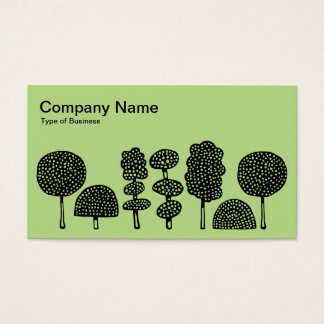 Topiary - Black on Lt Green b8da89 Business Card