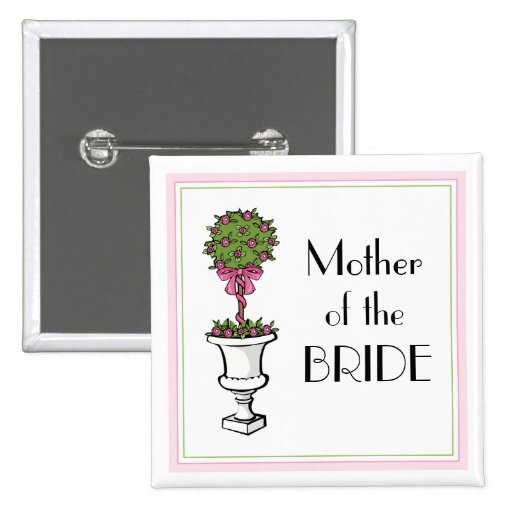 Topiary Bridal Party Favors Button