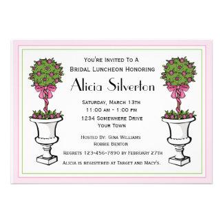 Topiary Bridal Shower Invitation