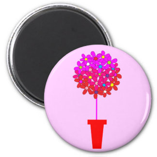 Topiary de la margarita en rosas iman