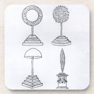 Topiary designs, from 'Hypnerotomachia Poliphili', Beverage Coaster