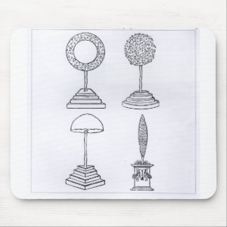 Topiary designs, from 'Hypnerotomachia Poliphili', Mouse Pad