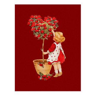 Topiary en forma de corazón tarjetas postales