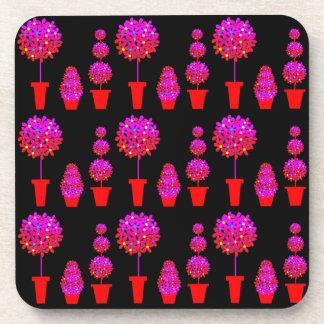Topiary floral adaptable posavasos