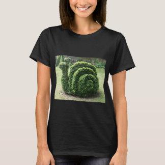 Topiary garden bush snail cute fun tee shirt.