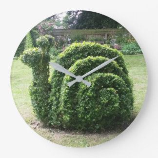 Topiary garden snail smile time green large clock