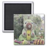 Topiary gigante del conejito imán de frigorifico