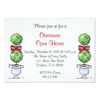 """Topiary Holiday Invitation 5"""" X 7"""" Invitation Card"""