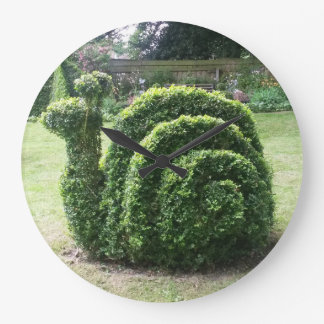 Topiary snail cute fun gardening large clock